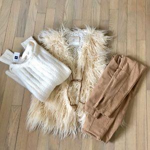 Anthropologie fur vest bundle!